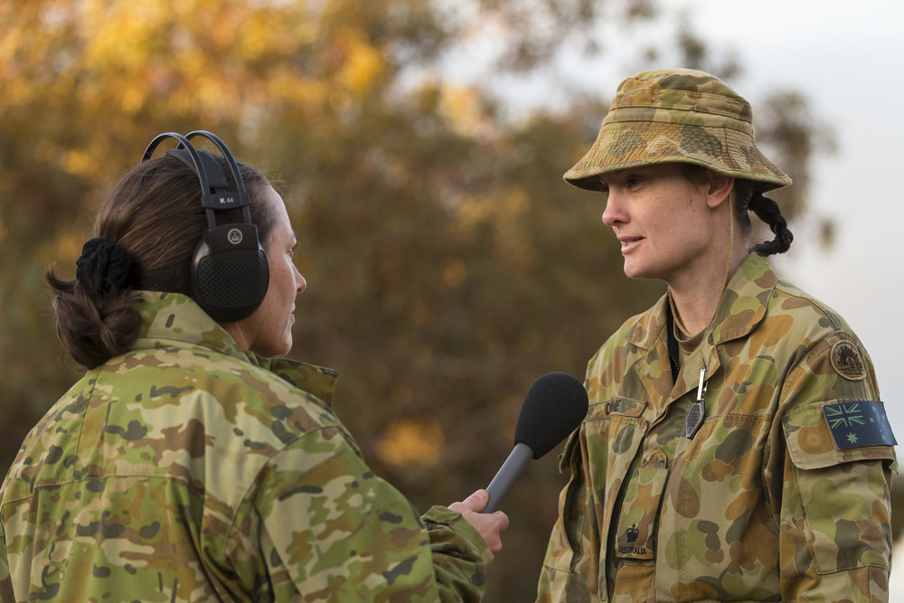 Australian Army medical officer Major Kelly Dunne is interviewed for the Australian Army podcast during Exercise Hamel 2016. ( Grounded Curiosity )