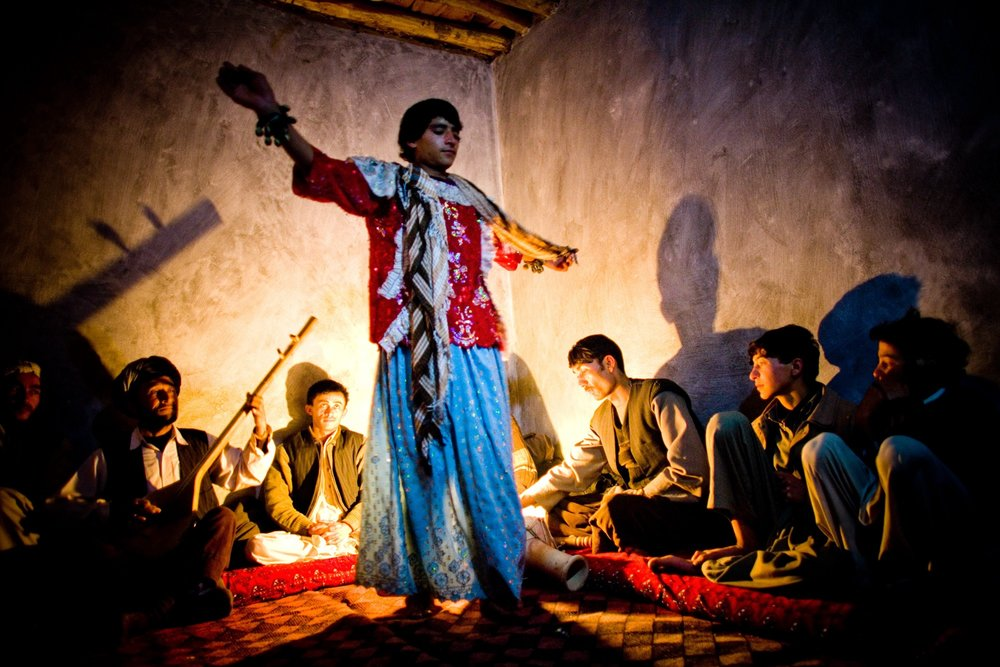 Afghan dancing boys, or bacha bazi. (Getty Images)