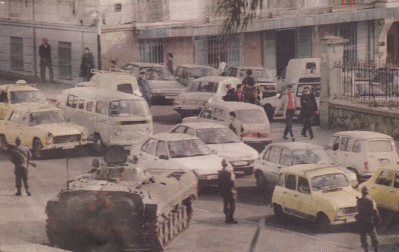 Algiers: Armor in the street in December 1991 (Image from  Wikicommons )