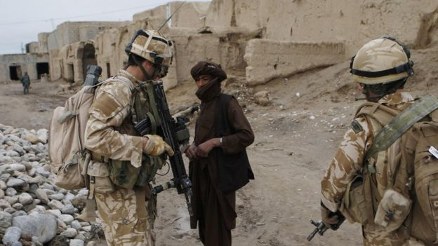 U.K. troops in Helmand province in 2009. (Danny Lawson/BBC)