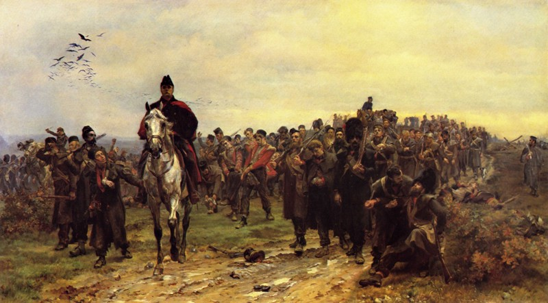"""""""The Return from Inkermann"""" by Lady Butler, Elizabeth Southerden Thompson (Wikimedia Commons)"""