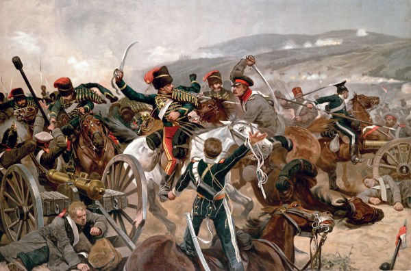 """The Relief of the Light Brigade"" by Richard Caton Woodville, Jr. (Wikimedia Commons)"