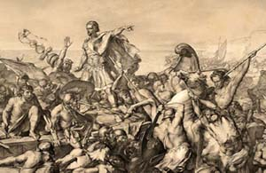 """Caesar's Invasions of Britain"" by Edward Armitage. (Wikimedia)"