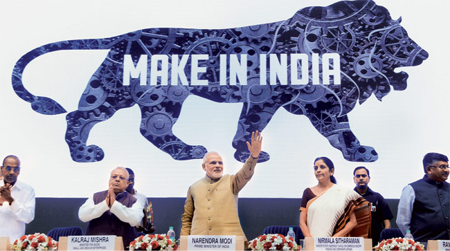 "Prime Minister Narendra Modi and the ""Make in India"" Campaign (AP)"