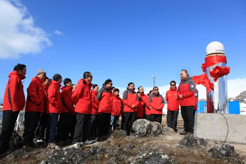 The first Beidou Navigation Satellite System Reference Station in the Antarctic was officially put into operation on February 3, 2015. (National Administration of Surveying, Mapping and Geoinformation of China)