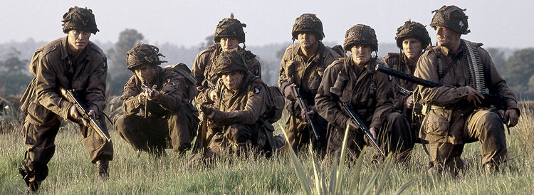 """Military historians in particular are fascinated...by what happens at the bottom."" (Band of Brothers/HBO.com)"