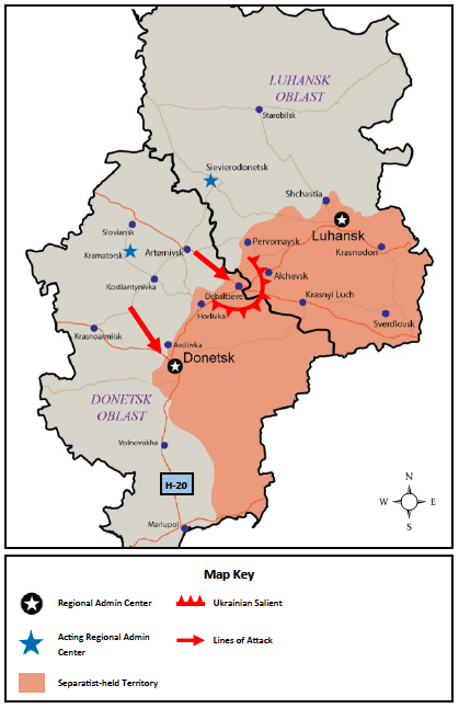 the ukrainian militarys early focus on key geographic points in the region and efforts to fully control transportation arteries like highway 20 as they