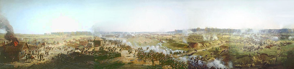 """Panorama of Moscow Battle in 1812"" (or ""Battle of Borodino"") by Franz Roubaud (Wikimedia)"
