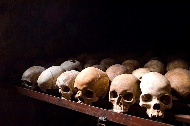 Nyamata Memorial Site, skulls. Nyamata, Rwanda. (Fanny Schertzer/Wikimedia)