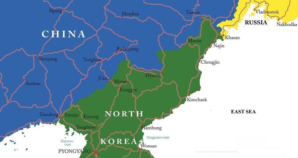 North Korea's borders with China and Russia (Serban Bogdan)