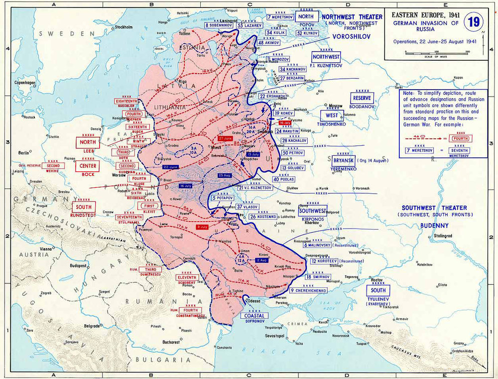 Map of Operation Barbarossa