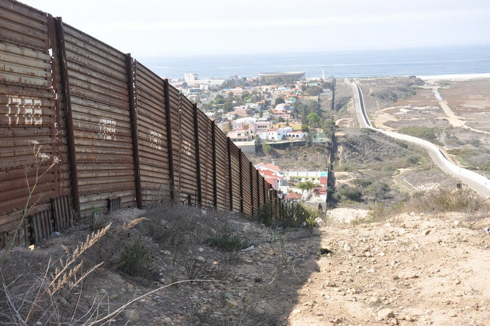 A portion of the fence along the U.S. border with Mexico in Southern California | BBC World Service