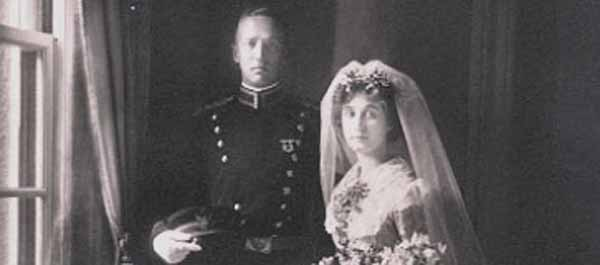 George and Beatrice Patton on their wedding day in 1910. (Armchair General)