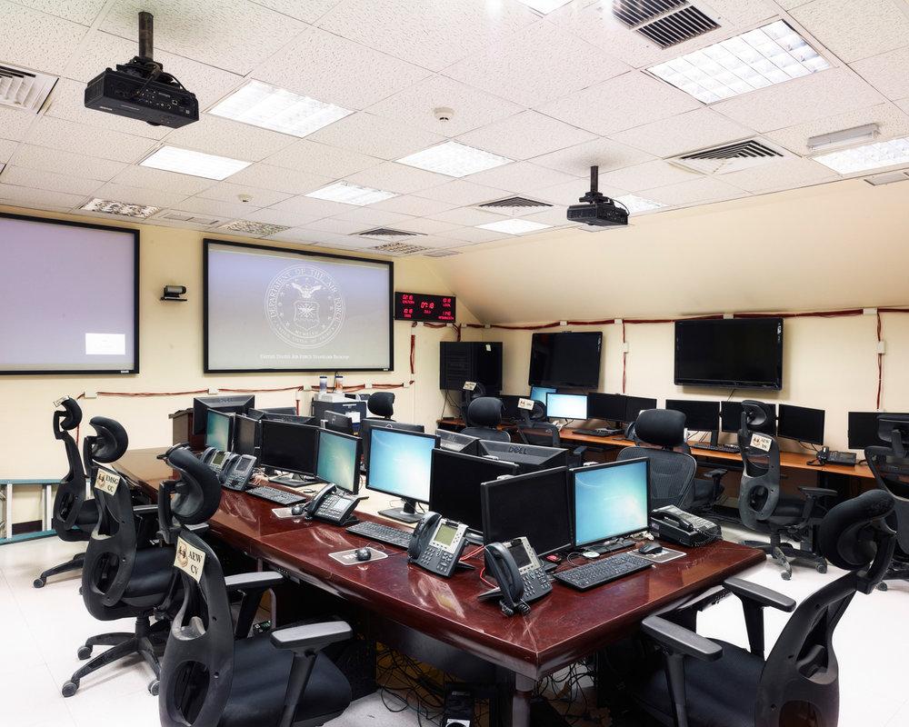 A hardened command post bunker for crisis response in Southwest Asia. (Jason Koxvold)