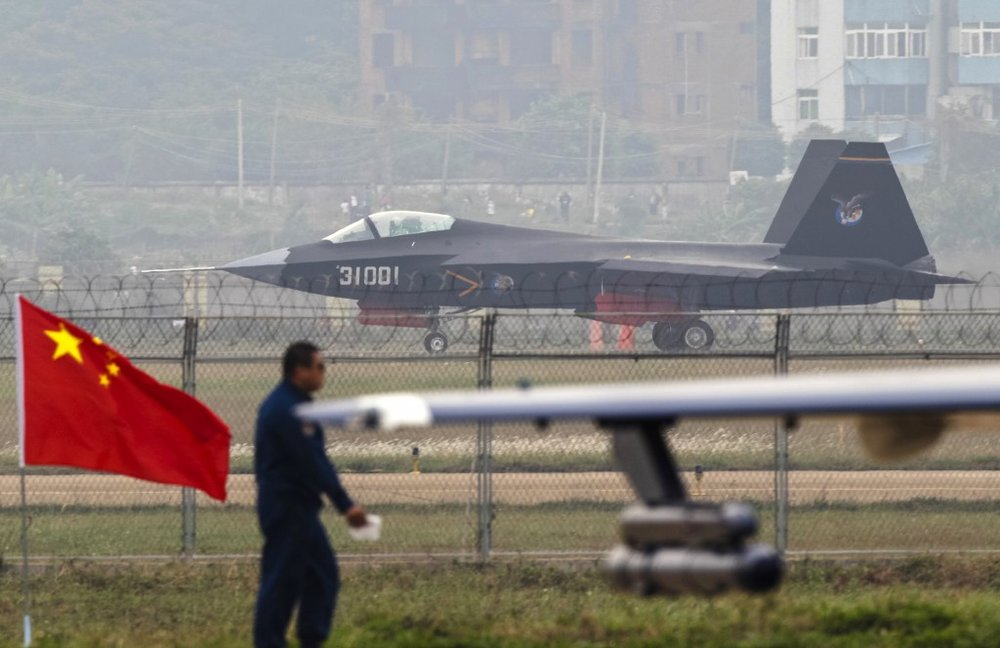 A J-31 stealth fighter of the Chinese People's Liberation Army Air Force (Alex Lee/Reuters)