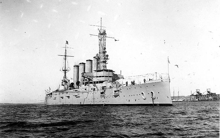 USS San Diego, 28 Jan 1915 (Naval-History.net)