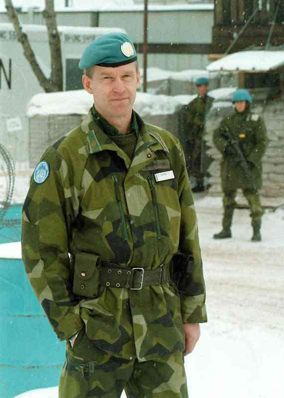 Colonel Ulf Henricsson was head of the UN UN Battalion BA01 in the Bosnian Civil War.(Aftonbladet)