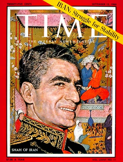 The Shah of Iran on the cover of TIME Magazine, 12 Sep 1960 (TIME)