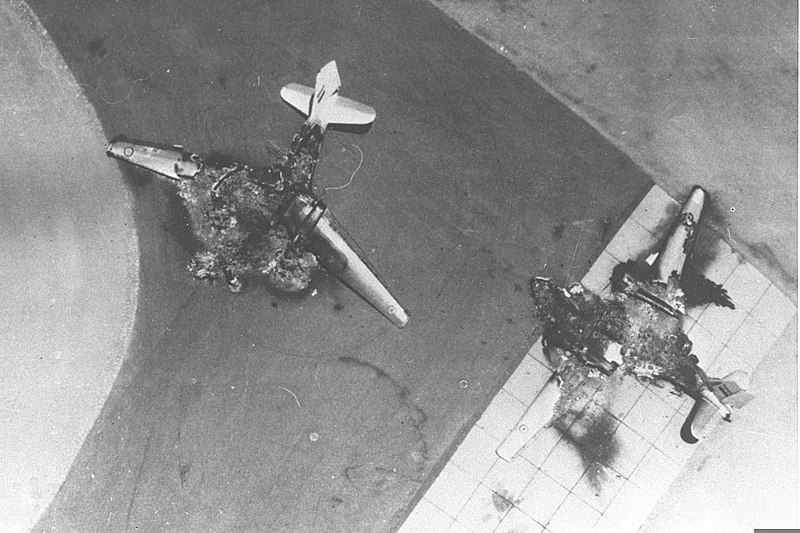Egyptian planes destroyed on the ground in the Six-Day War