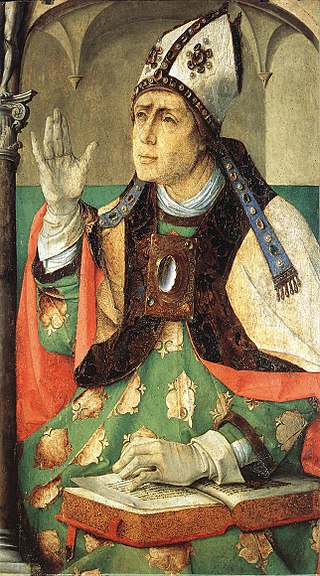St Augustine By Justuvus an Gent, c 1474 (Wikimedia)