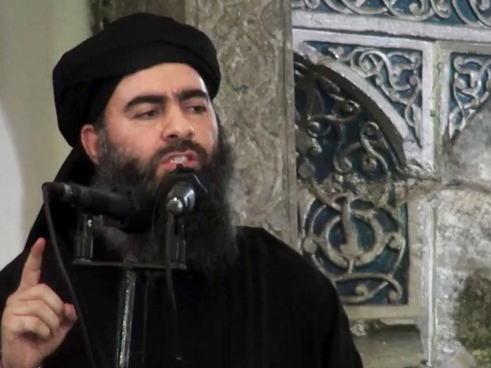 The self-appointed Caliph Abu Bakr al-Baghdadi (AP)