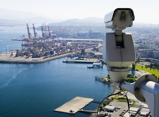 Port surveillance is essential to security. (BMT)