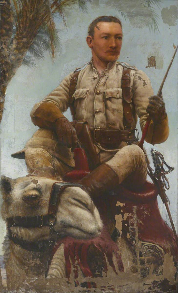 Lieutenant (later Major) Baden Fletcher Smyth Baden-Powell, Nile Expedition, 1885. (UK National Army Museum)