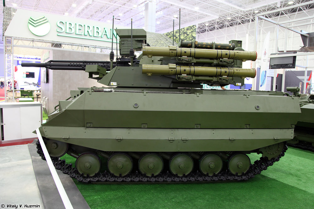 Uran-9 combat unmanned ground vehicle. (Vitaly Kuzmin/Wikimedia)