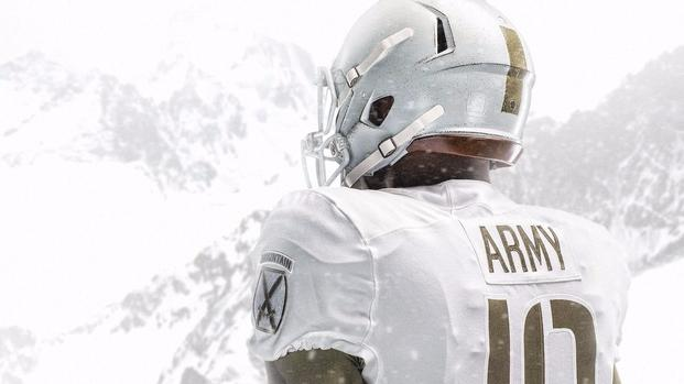 Nike-designed football uniforms for the United States Military Academy's 2017 game against the United States Naval Academy.