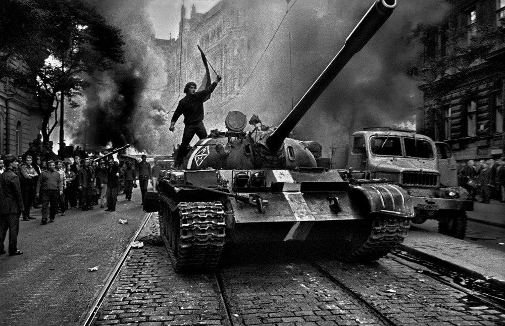 Students battle the tanks in Czechoslovakia, 1968.