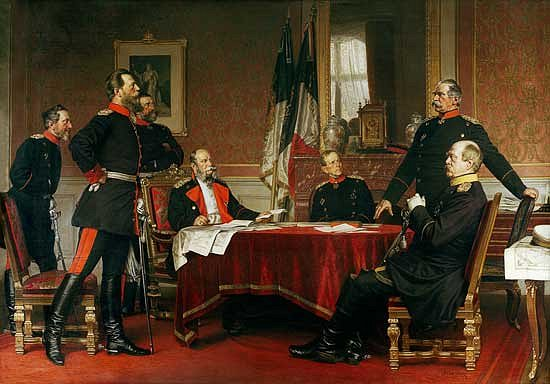 """Discussion of a War Strategy in Versailles, 1900"" by Anton Alexander von Werner (Axis History Forum)"