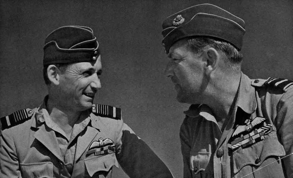 Air Marshall Arthur Tedder (left) with Air Marshal Arthur Conningham. (RAF Museum)