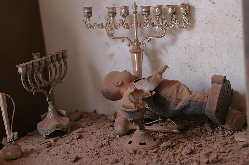 A house in Sderot hit by a Qassam rocket (Oren Rosenfeld/Wikimedia)