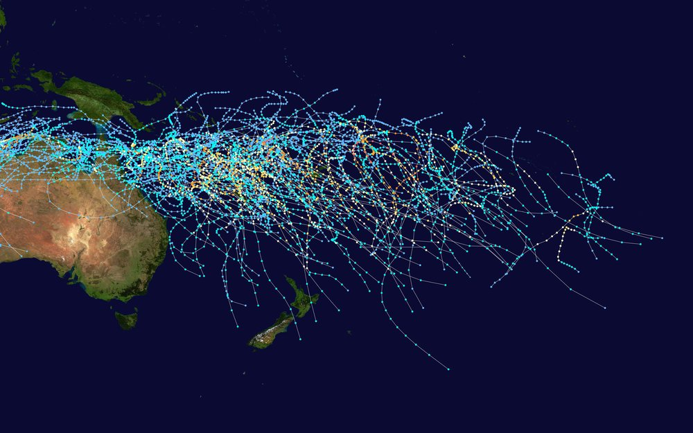 South Pacific Cyclone Tracks [27]