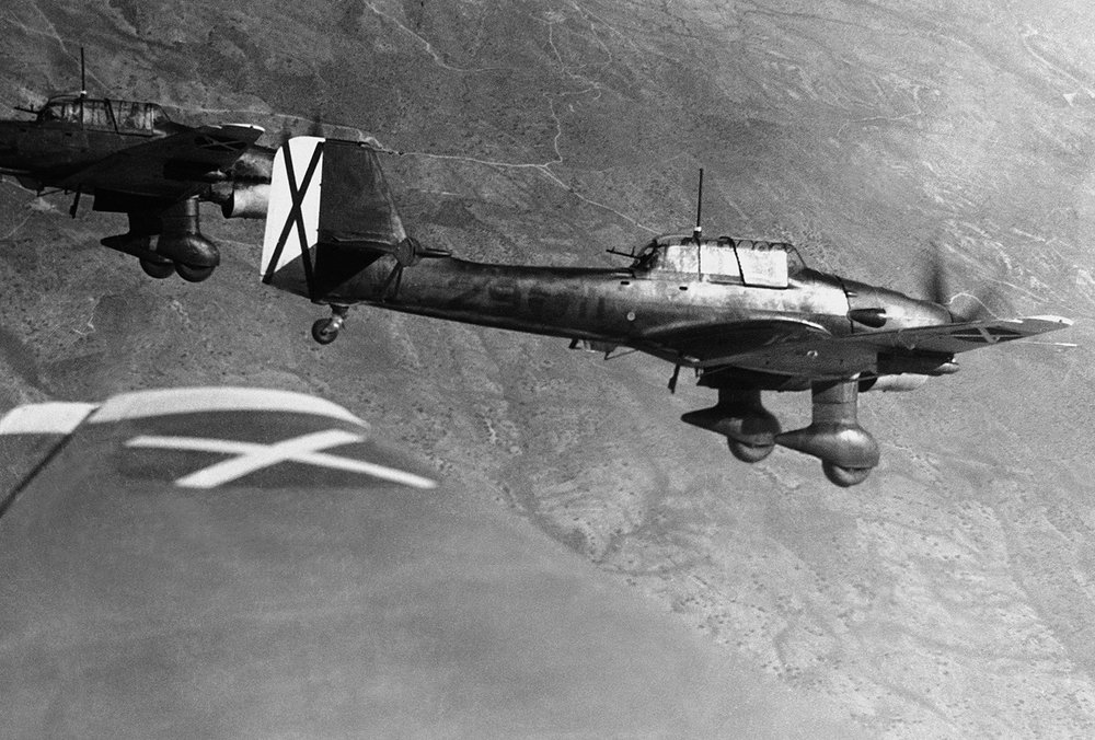 Condor Legion Ju 87 Stuka dive bombers over Spain, May 30, 1939. (World War II Database)