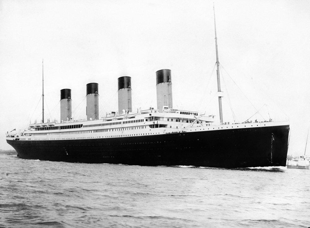 RMS Titanic departing Southampton on April 10, 1912. (F.G.O. Stuart/Wikimedia)