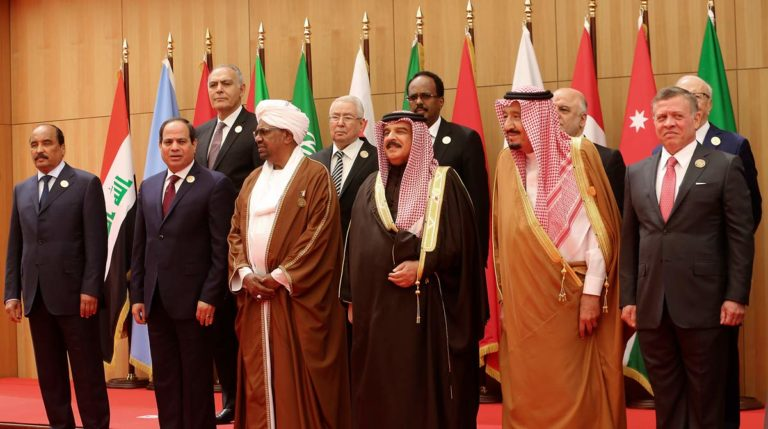 Participants in the 2017 Arab League Summit, (Raad Adayleh/AP)