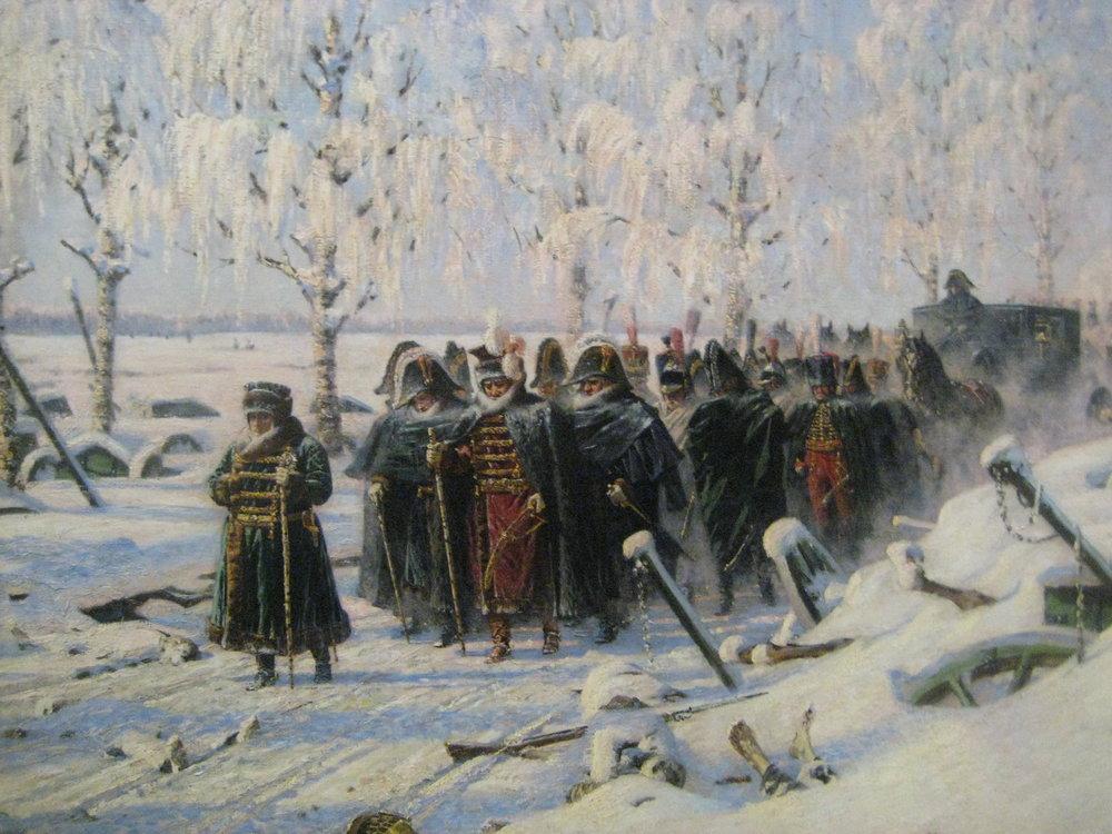 """Napoleon's Retreat"" by Vasily Vereshchagin (Wikimedia)"