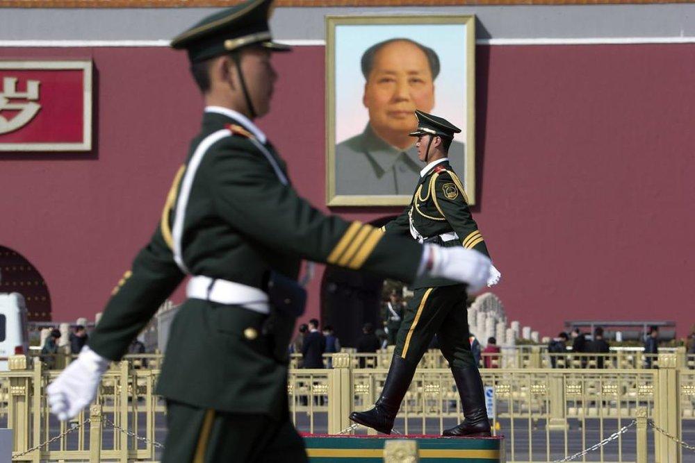 Guards in Tienanmen Square (AP)
