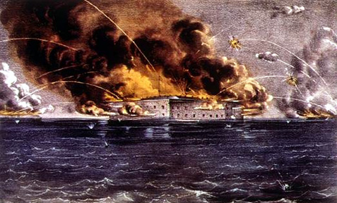 Bombardment of Fort Sumter (Wikimedia)