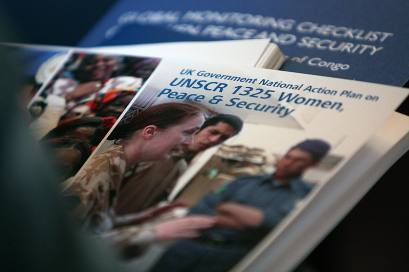 Launch event of the UK Government National Action Plan on United Nations Security Council Resolution 1325 Women, Peace & Security in London, 25 November 2010. (Wikimedia)