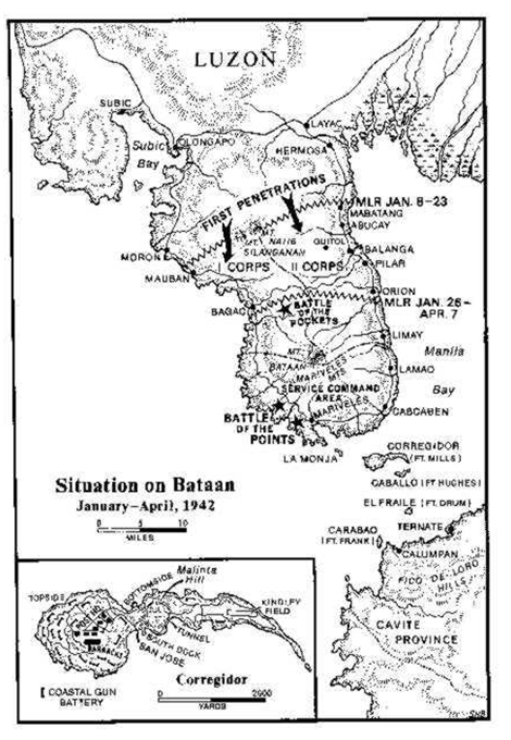 Situation on Bataan, Jan to Apr 1942[20]
