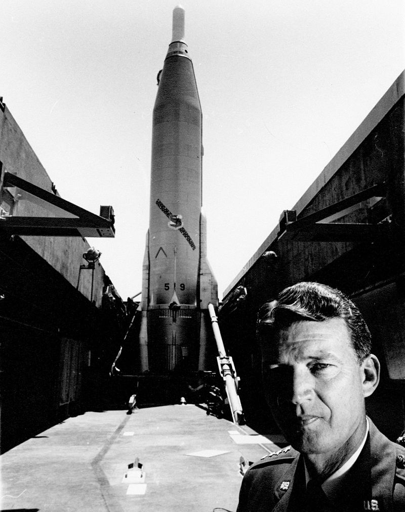 Atlas, the Air Force's first Intercontinental Ballistic Missile, was a national priority and one of Gen. Bernard Schriever's major achievements. (Wikimedia)