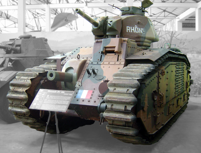 Char B1 bis on display at the Musée des Blindés in Saumur. (Wikimedia)
