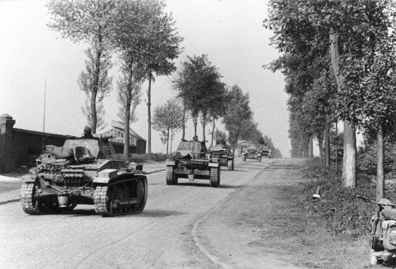 German tanks in Belgium, May 1940. (German Federal Archive/Wikimedia)