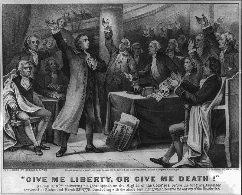 """Give me liberty, or give me death!"" (Library of Congress/Wikimedia)"