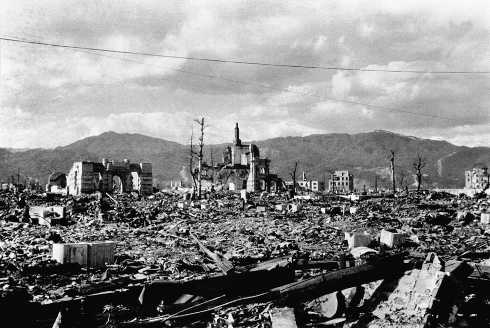A view of Hiroshima, in 1945, from a hill which rises in the eastern part of the city. (Shunkichi Kikuchi)
