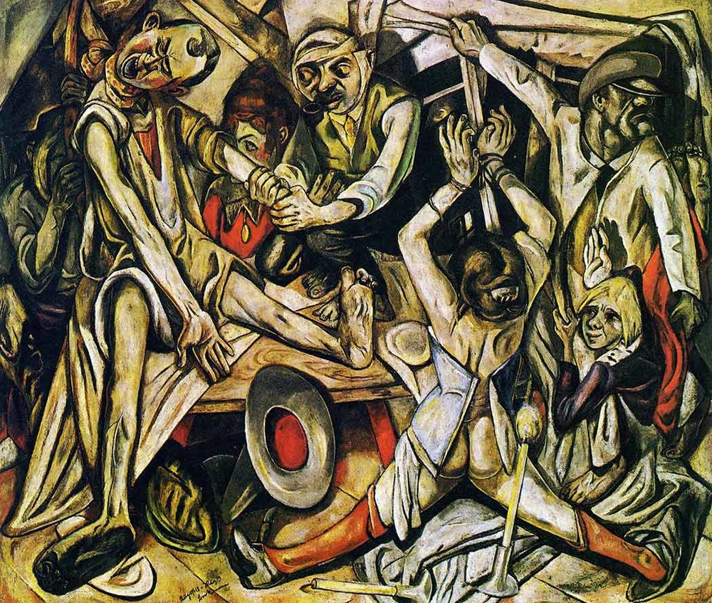 """The Night"" by Max Beckman, 1918-1919 (via Alex Browne at  Made from History: The Art of World War One in 52 Paintings  and  @Artistwar )"