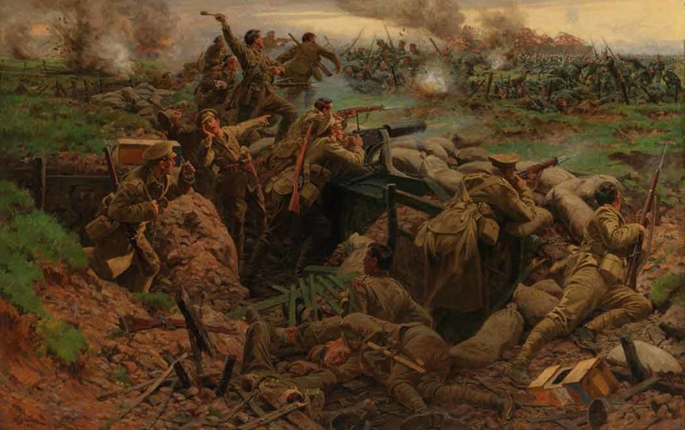 """Canadians at Ypres"" by William Barnes-Wollen, 1915   (via Alex Browne at  Made from History: The Art of World War One in 52 Paintings )"