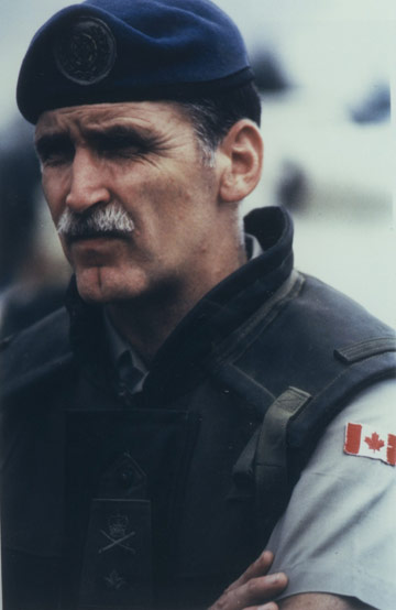 Lieutenant-General Romeo Dallaire, Canadian Army, Force Commander of UNAMIR peacekeeping forces for Rwanda between 1993 and 1994 (photo via the  Royal Military College of Canada Alumni Association )